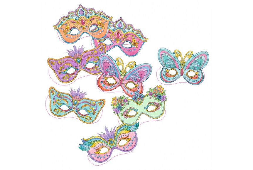 Kit masques de princesse colorier lillifee - Masque de princesse a colorier ...