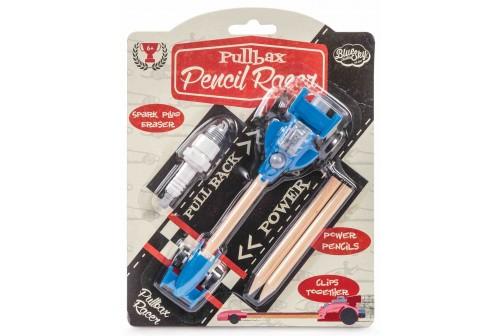 Set crayons et gomme voiture de course