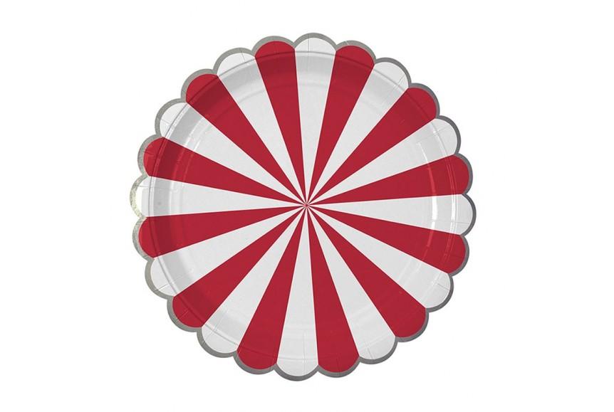 assiettes en carton rouge et blanche mix and match meri meri. Black Bedroom Furniture Sets. Home Design Ideas