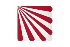 Serviettes rouges et blanches