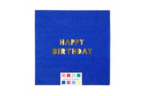 Petites serviettes Happy Birthday Meri Meri