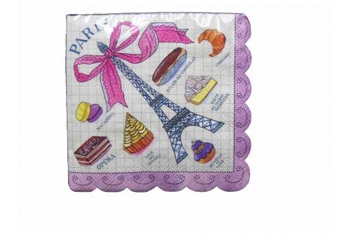 Petites serviettes Paris Meri Meri