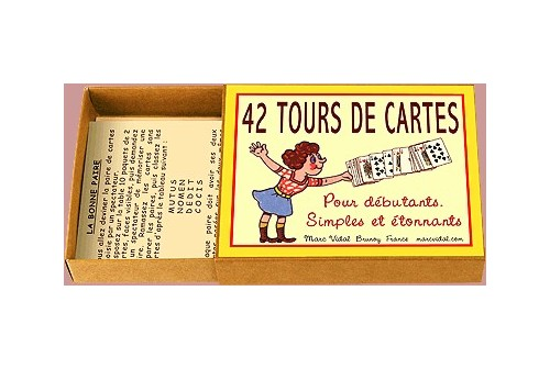 Boîte de 42 tours de cartes