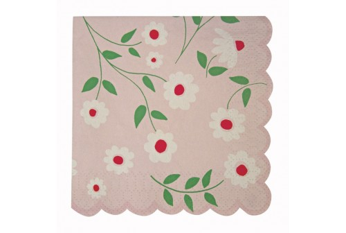Petites serviettes fleurs Meri Meri