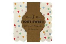 Petites serviettes à pois Toot sweet