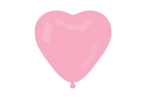 Ballon coeur rose - set de 10 ballons