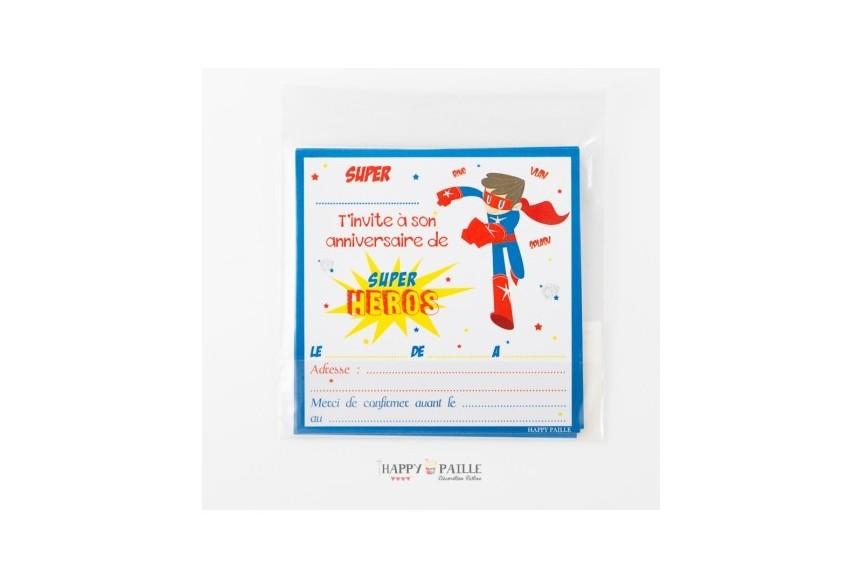 Invitation anniversaire super h ros gar ons - Kit anniversaire super heros ...