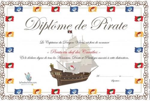 Diplômes de Pirates