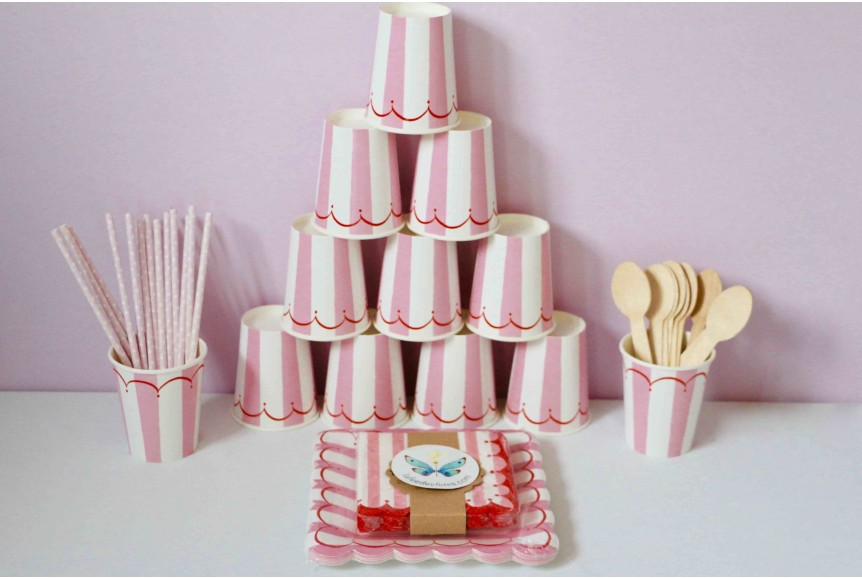 kit anniversaire toot sweet rose. Black Bedroom Furniture Sets. Home Design Ideas