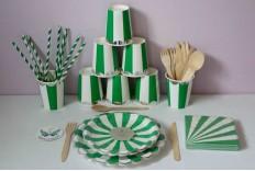 Kit déjeuner anniversaire couleur verte Meri Meri