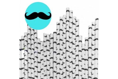 24 pailles moustaches