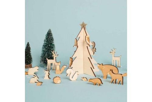 Calendrier de l'avent Animaux de Noël Meri Meri