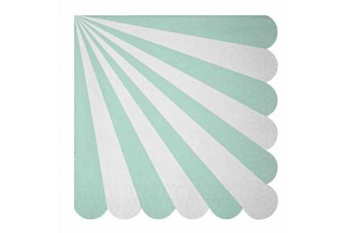 Serviettes jetables aqua en papier de Meri Meri