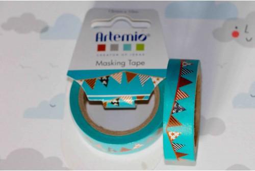 Masking tape fanion bleu