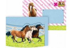8 invitations Amis des chevaux