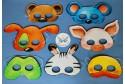 Masques animaux à colorier