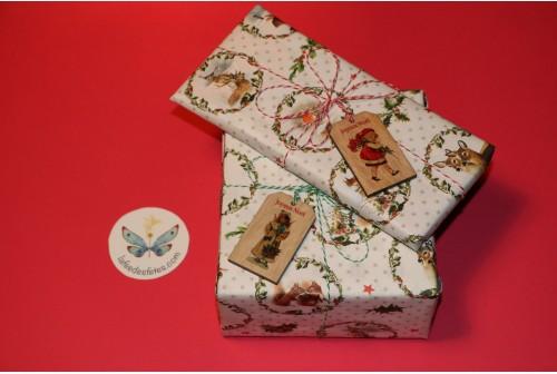 Set étiquettes de Noël en bois