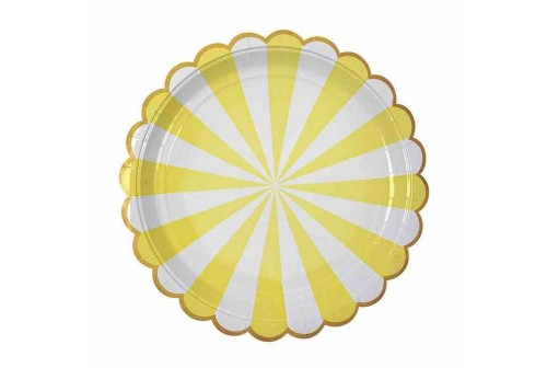 Assiettes mix and match jaune