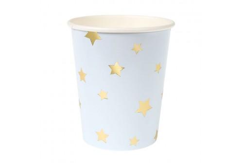 Gobelets multicolores étoiles dorées