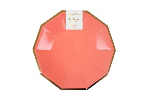 8 Petites assiettes neon Mix and Match