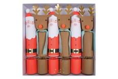 Crackers de Père Noël et renne