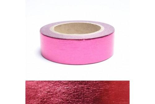 Masking tape métallisé rouge