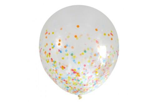 Ballon confetti multicolore - Set de 3 ballons