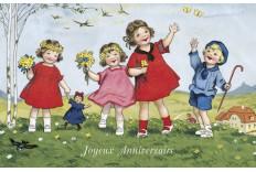 Carte Joyeux anniversaire rétro