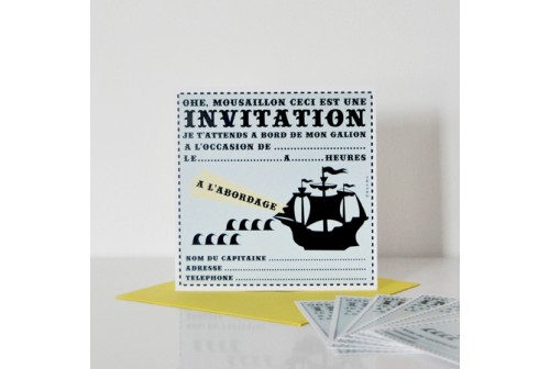 Invitation Moussaillon - Chacha