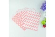 Set de pochettes rose & blanc