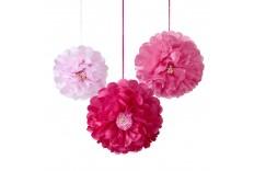 Fleur pompon en papier