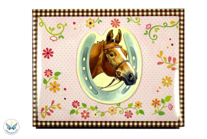 set de bureau de la collection amis des chevaux