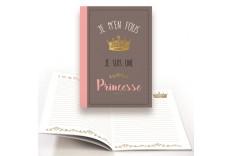 """Cahier """"Je m'en fous je suis une princesse"""""""