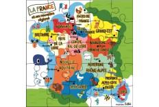 Carte anniversaire Puzzle France