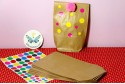 Kit sac en papier kraft à pois