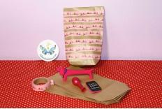 Kit sac en papier kraft de fête de filles