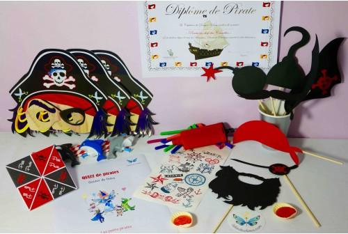 Petite boîte fête de pirates