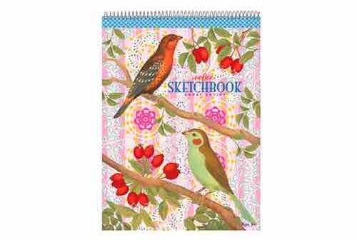 Cahier à dessin thème oiseaux