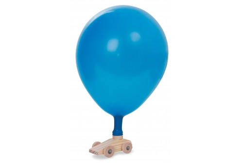 Voiture ballon en bois