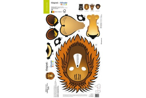 Kit masque de lion 3D