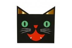 Serviette en papier chat