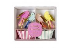 Kit cupcake thème oiseaux Meri Meri