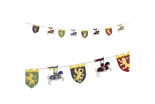 Guirlande de fête de chevaliers