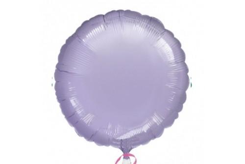 Ballon rond Mylar mauve