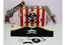 Valise de pirate avec accessoires Capitaine Sharky