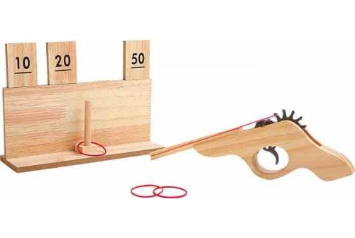Pistolet à élastique avec cible