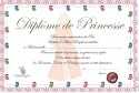 Printable Diplôme de Princesse