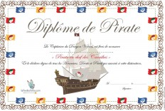 Diplômes de Pirates