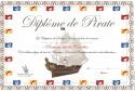 Printable diplômes de Pirate