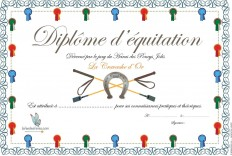 Diplômes d'équitation
